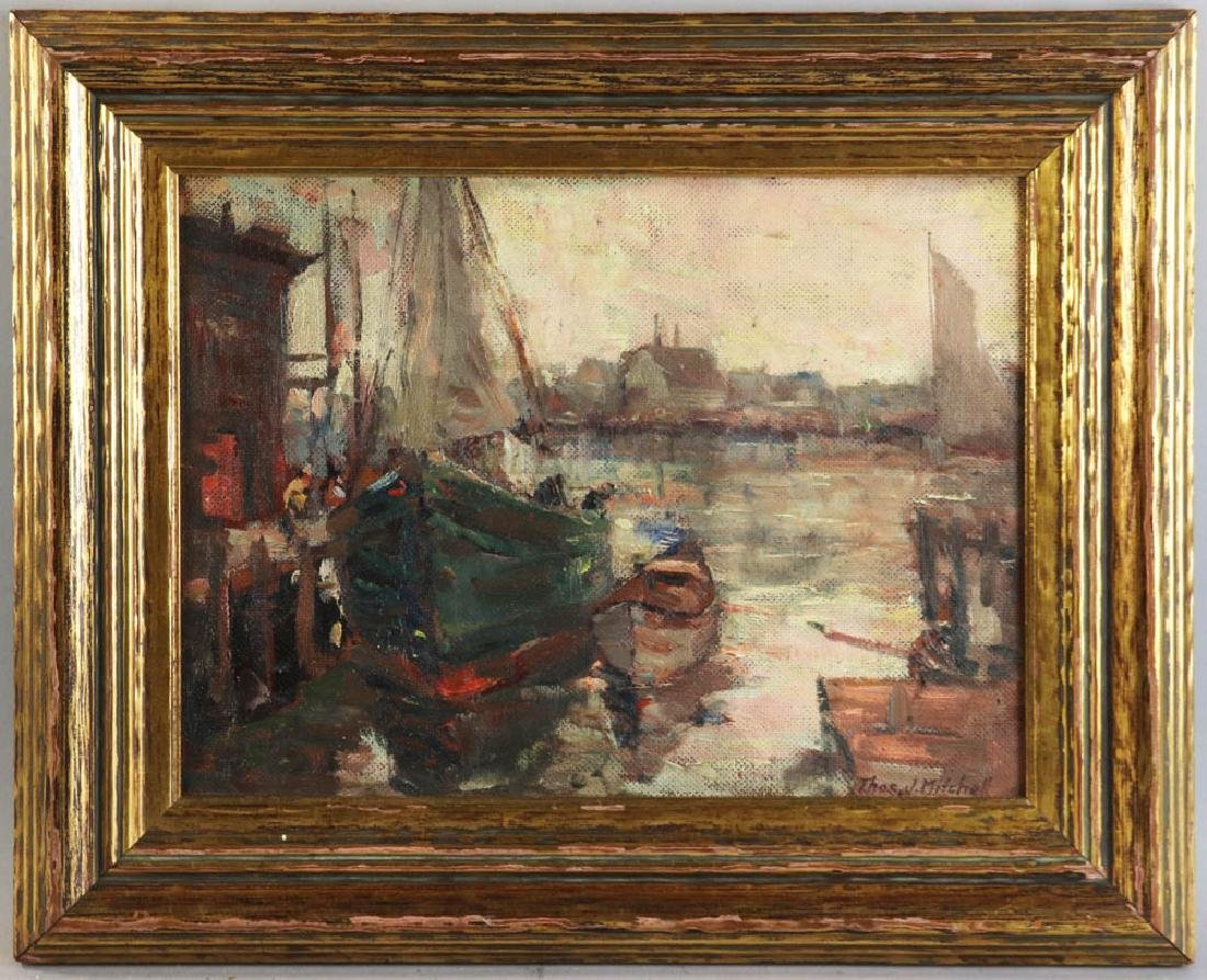 Thomas Mitchell, Gloucester Boats, Oil on Board