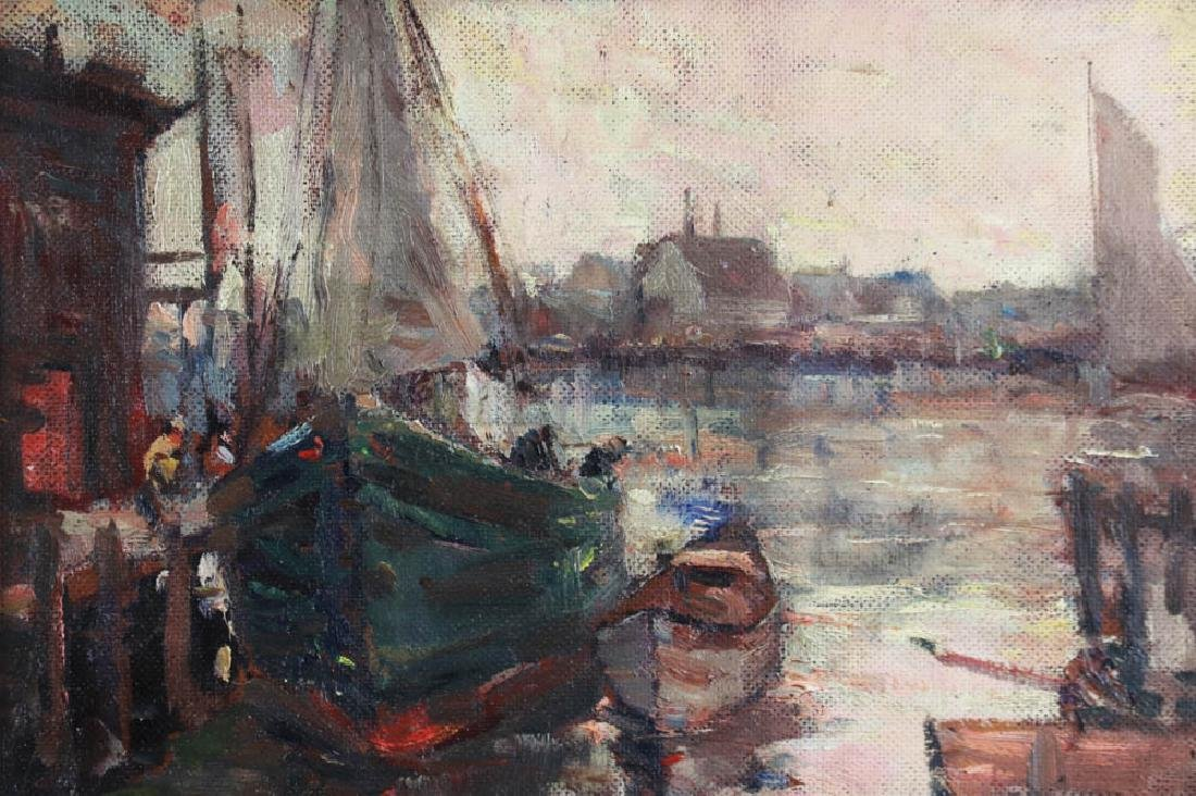 Thomas Mitchell, Gloucester Boats, Oil on Board - 3
