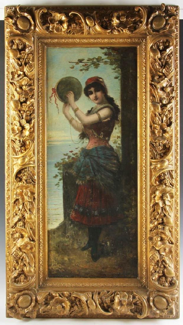 19th Century Italian School Oil on Canvas