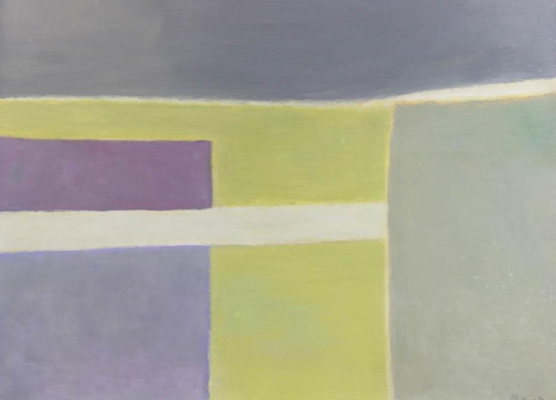 Alon Ohana, Modern Composition, Oil on Paper - 2