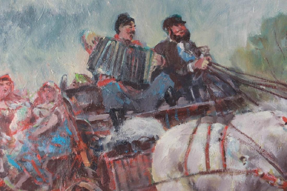 Ivanoff, Troika, Oil on Board - 4