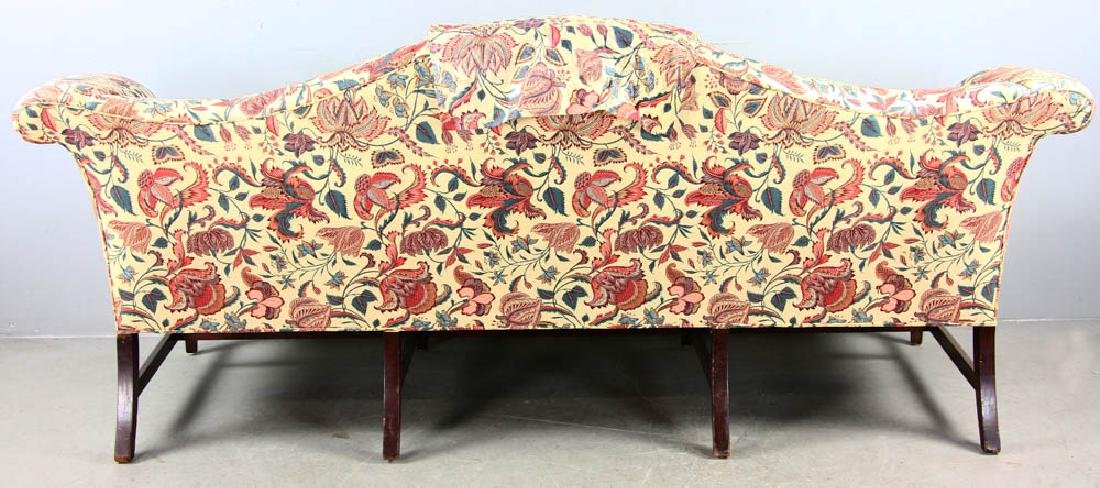Chippendale Style Upholstered Sofa - 8