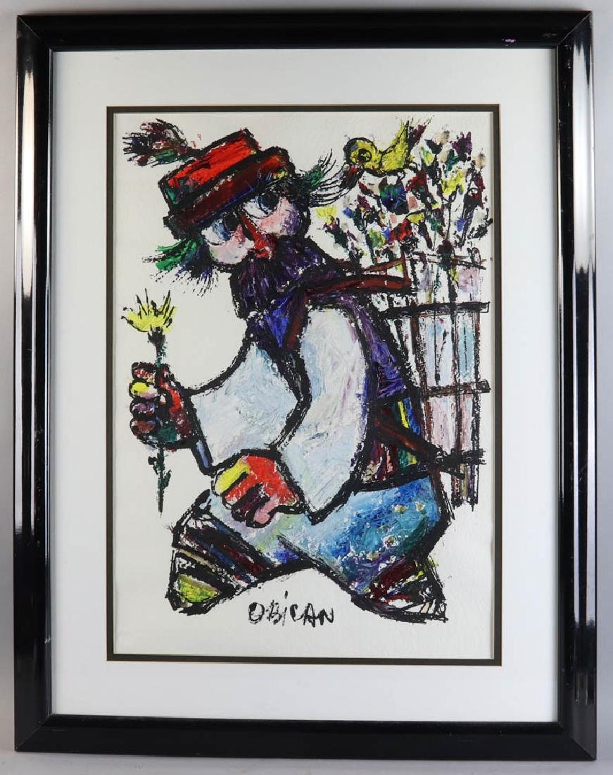 Jovan Obican Oil on Paper
