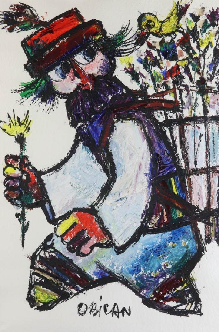 Jovan Obican Oil on Paper - 2