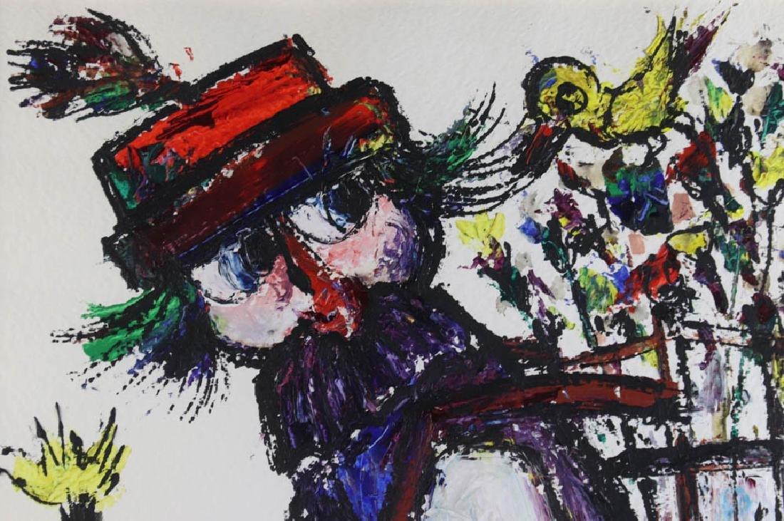 Jovan Obican Oil on Paper - 4