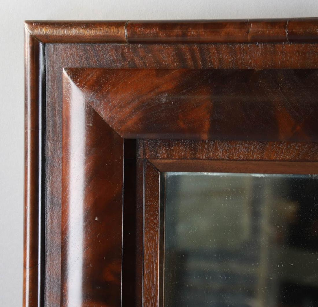 Antique Flame Mahogany Framed Mirror - 2