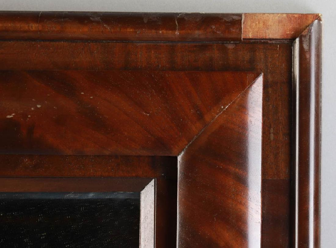 Antique Flame Mahogany Framed Mirror - 3