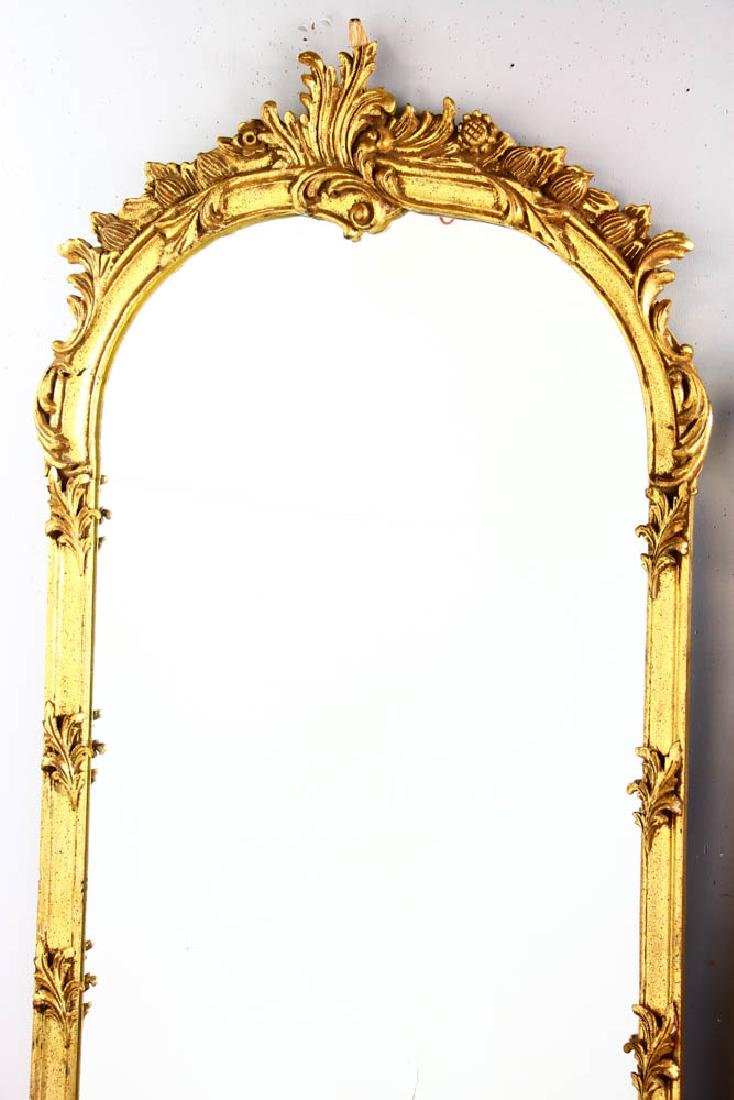 Pair of Decorative Gilt Framed Mirrors - 2