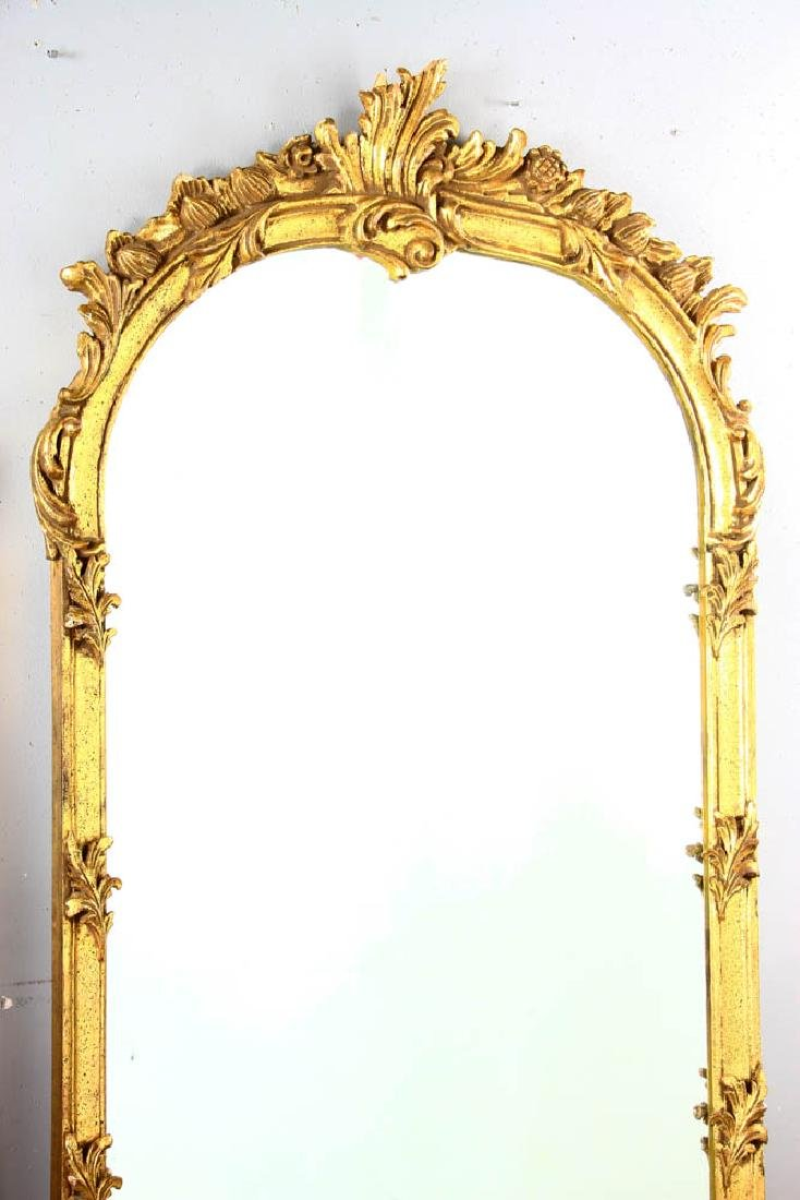 Pair of Decorative Gilt Framed Mirrors - 4