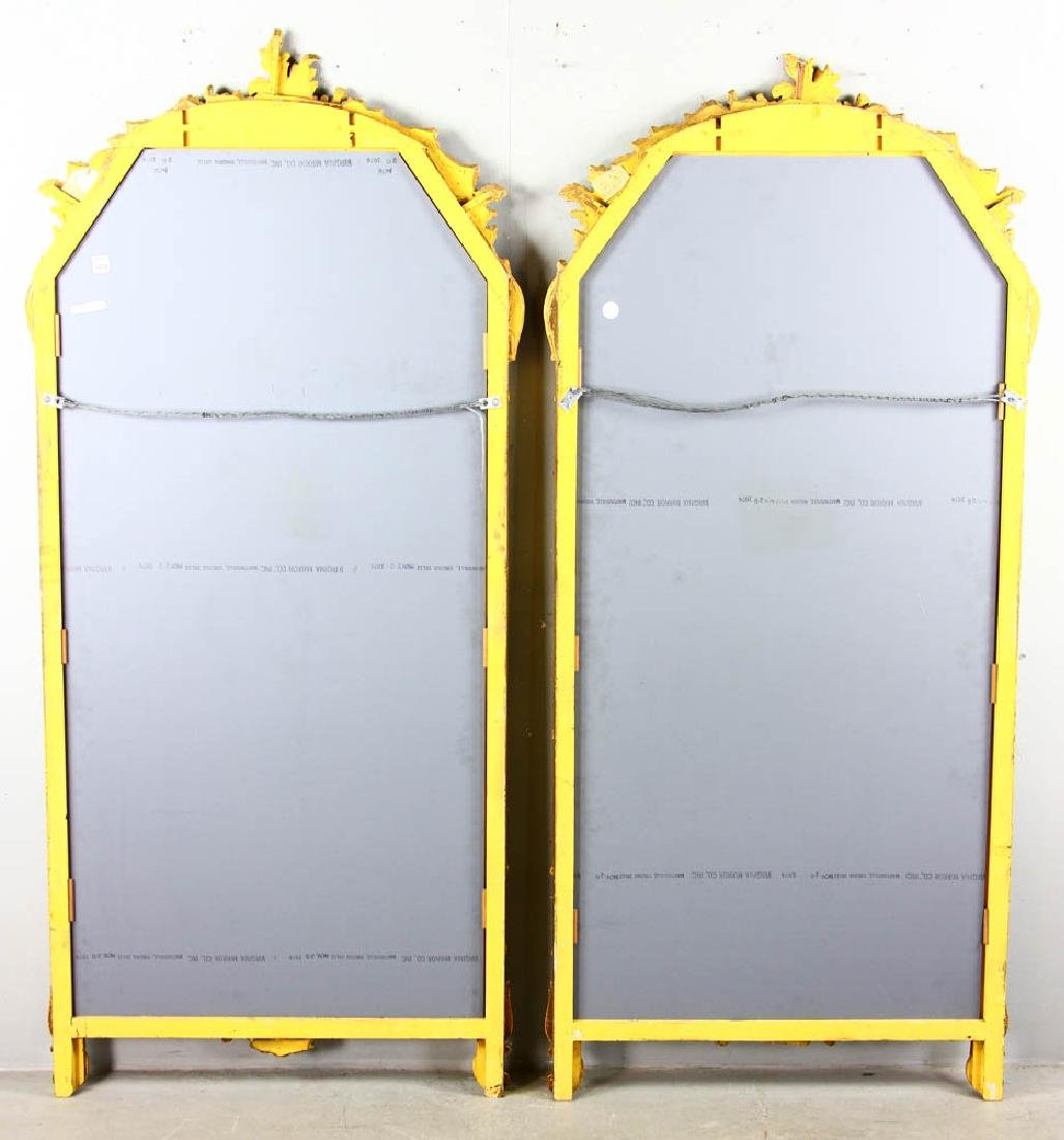 Pair of Decorative Gilt Framed Mirrors - 6