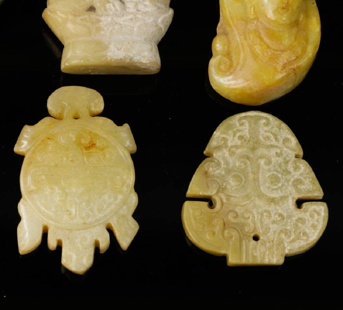 (11) Chinese Carved Hardstone Pendants - 6