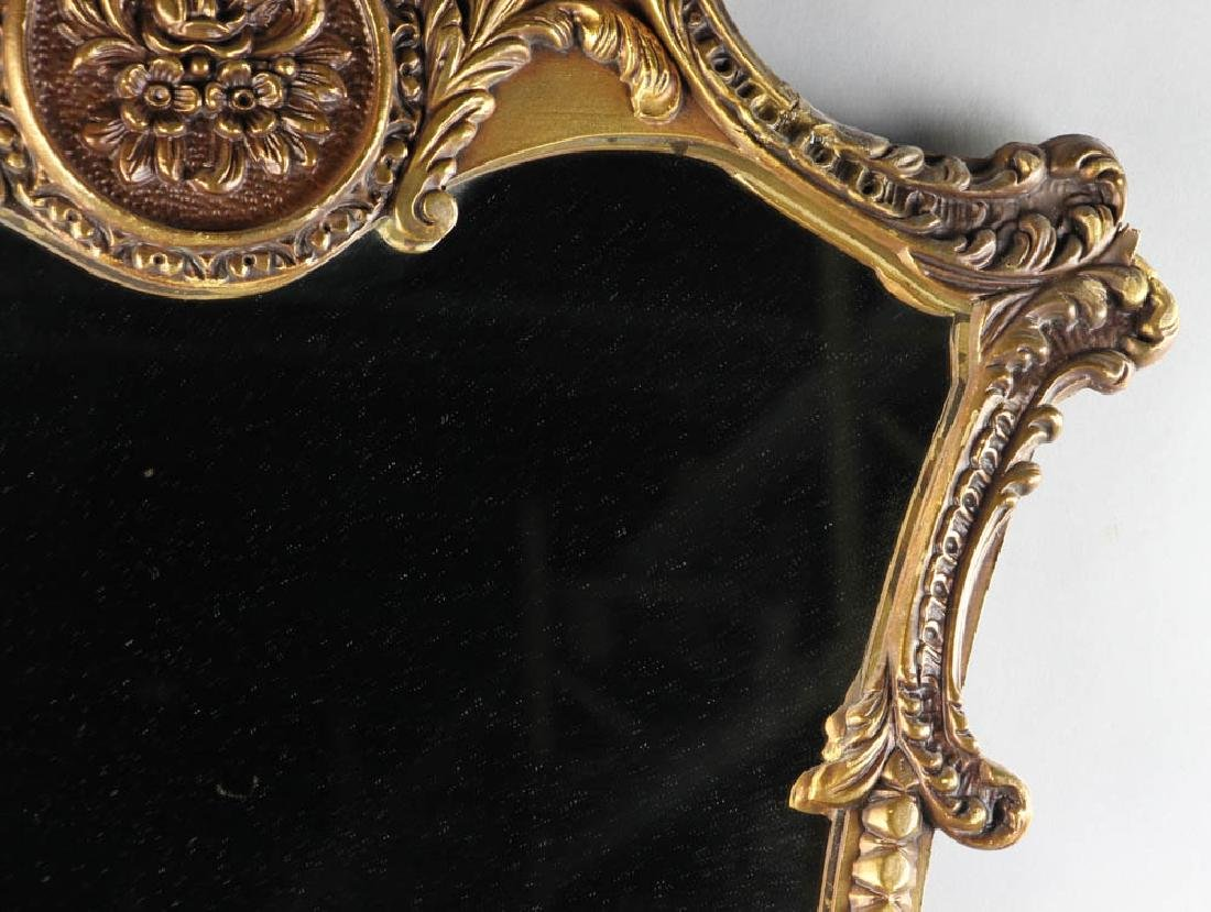 Antique Giltwood Mirror with Crest - 5