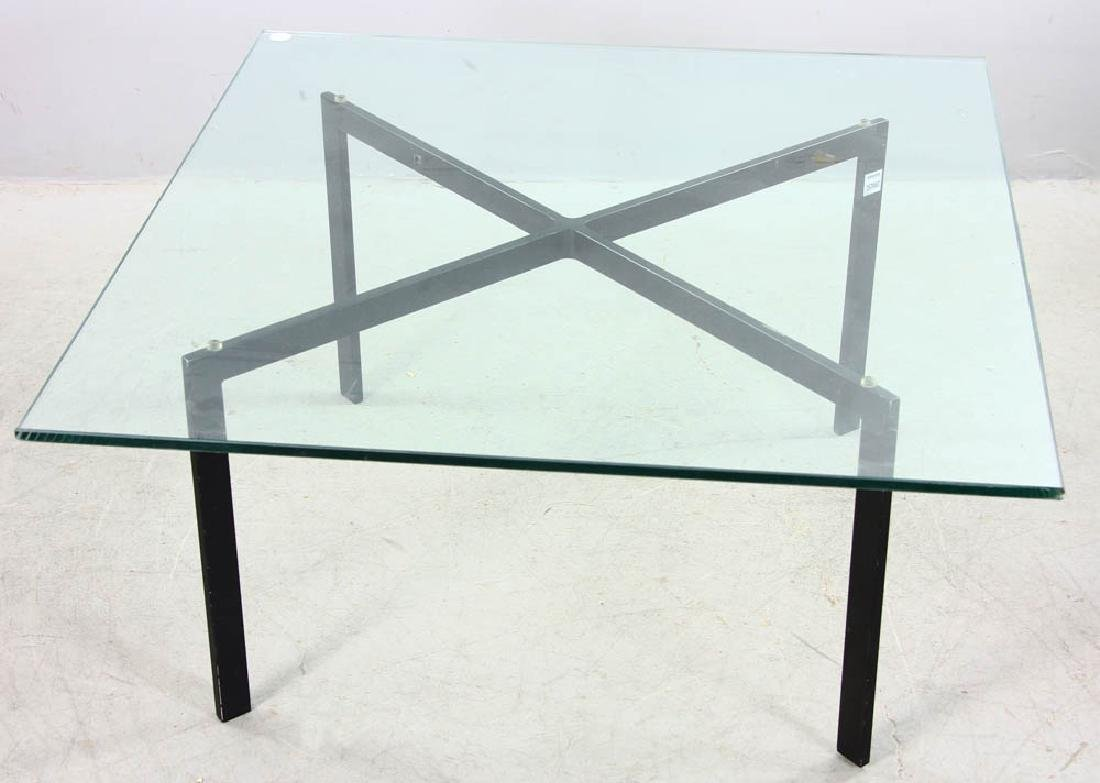 Barcelona Glass Top Table