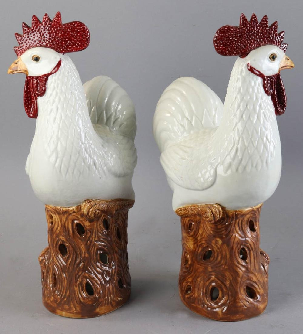 Chinese Porcelain Roosters