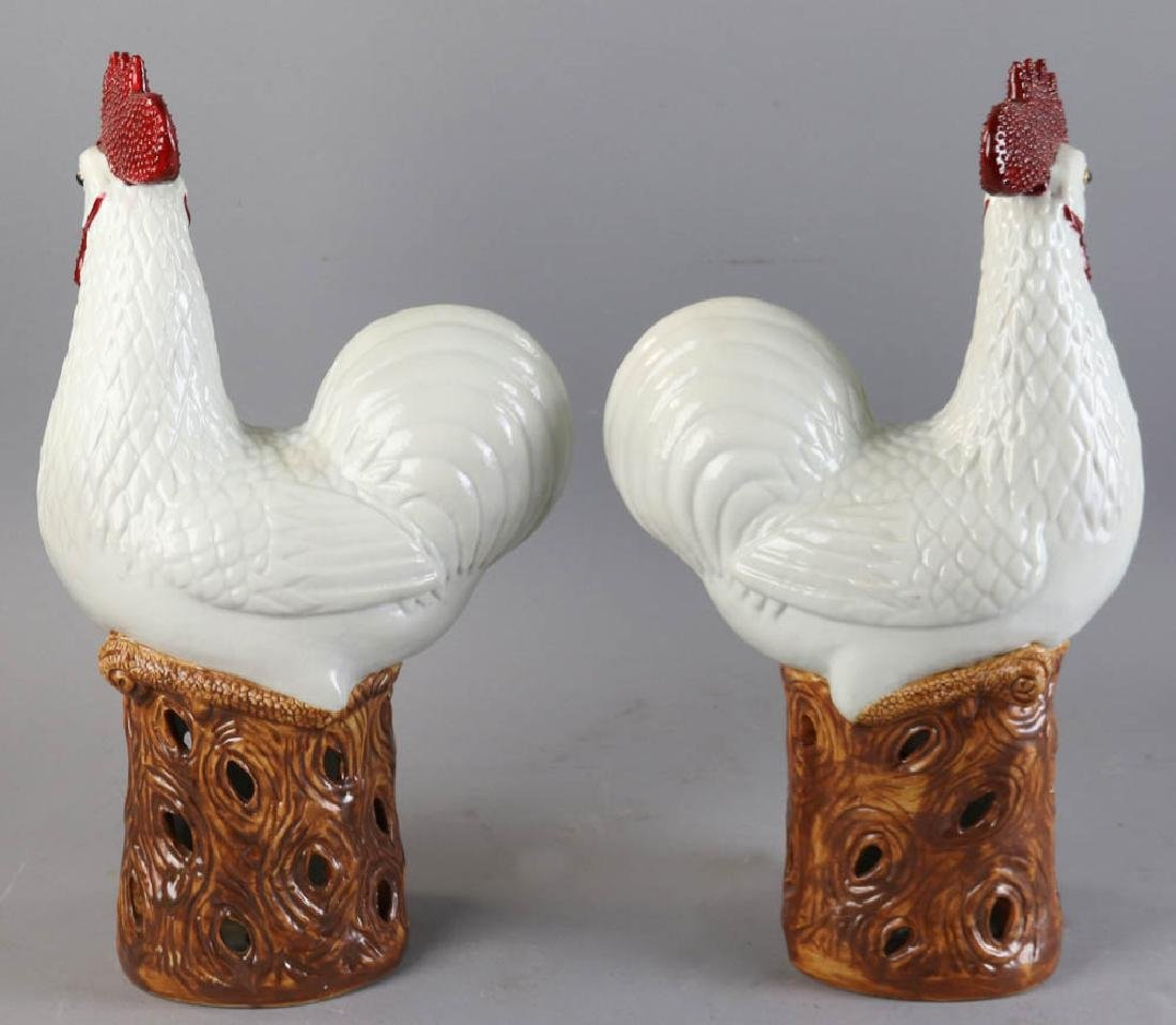 Chinese Porcelain Roosters - 2