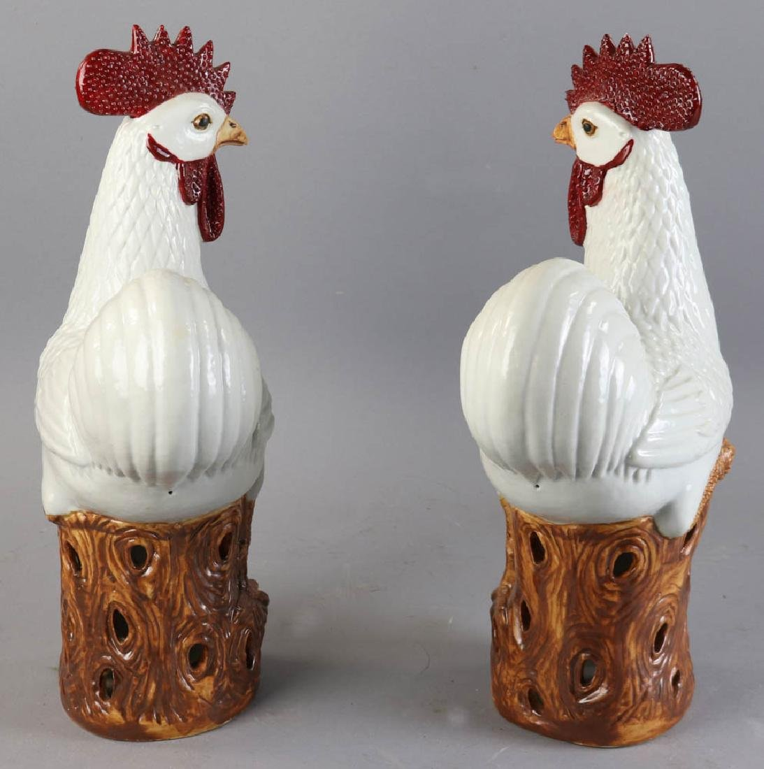 Chinese Porcelain Roosters - 3