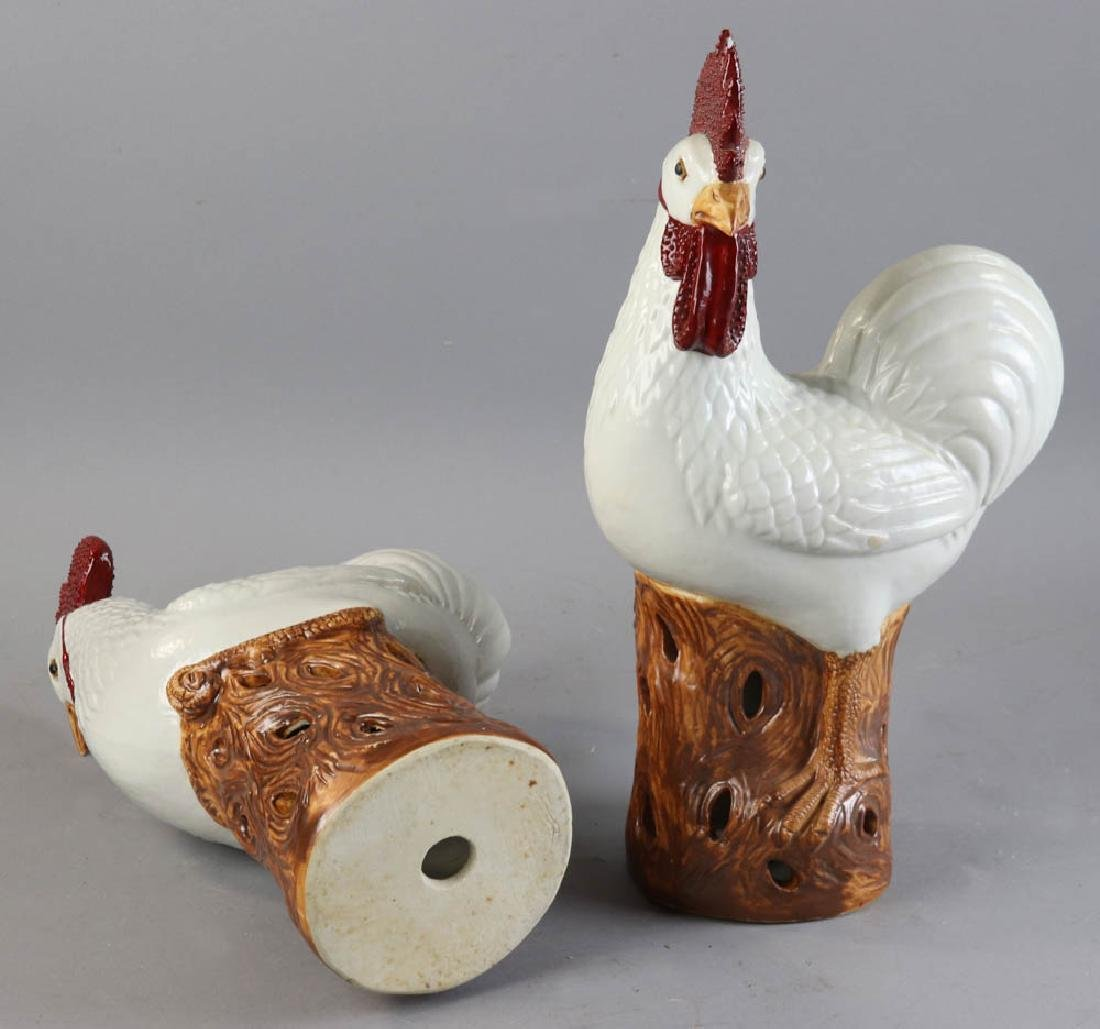 Chinese Porcelain Roosters - 8
