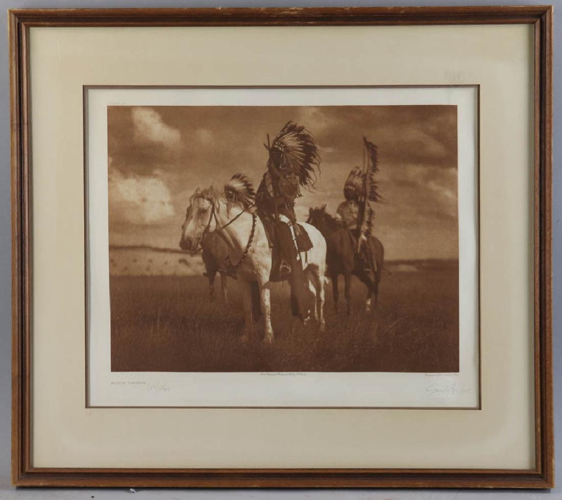 Sioux Chiefs Photogravure by Curtis