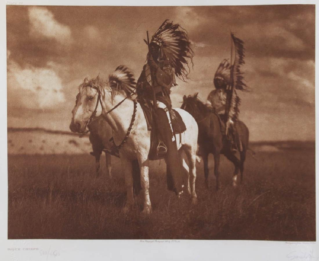 Sioux Chiefs Photogravure by Curtis - 2