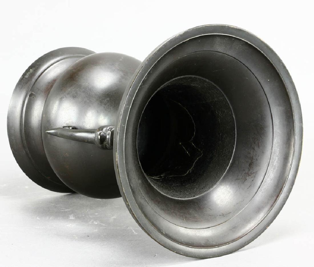 Japanese Bronze Urn - 4