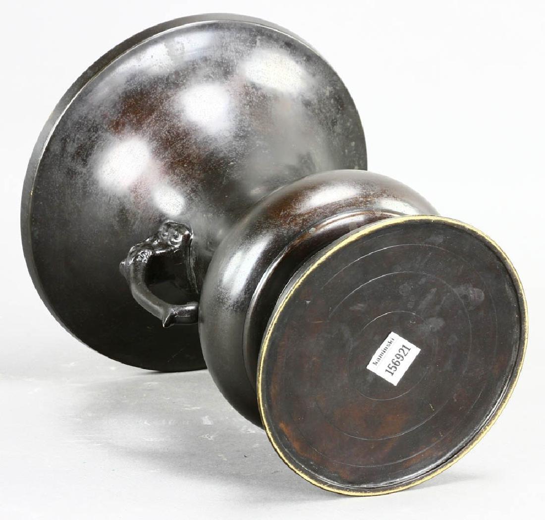 Japanese Bronze Urn - 5