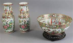 Collection of 19thC Chinese Rose Medallion