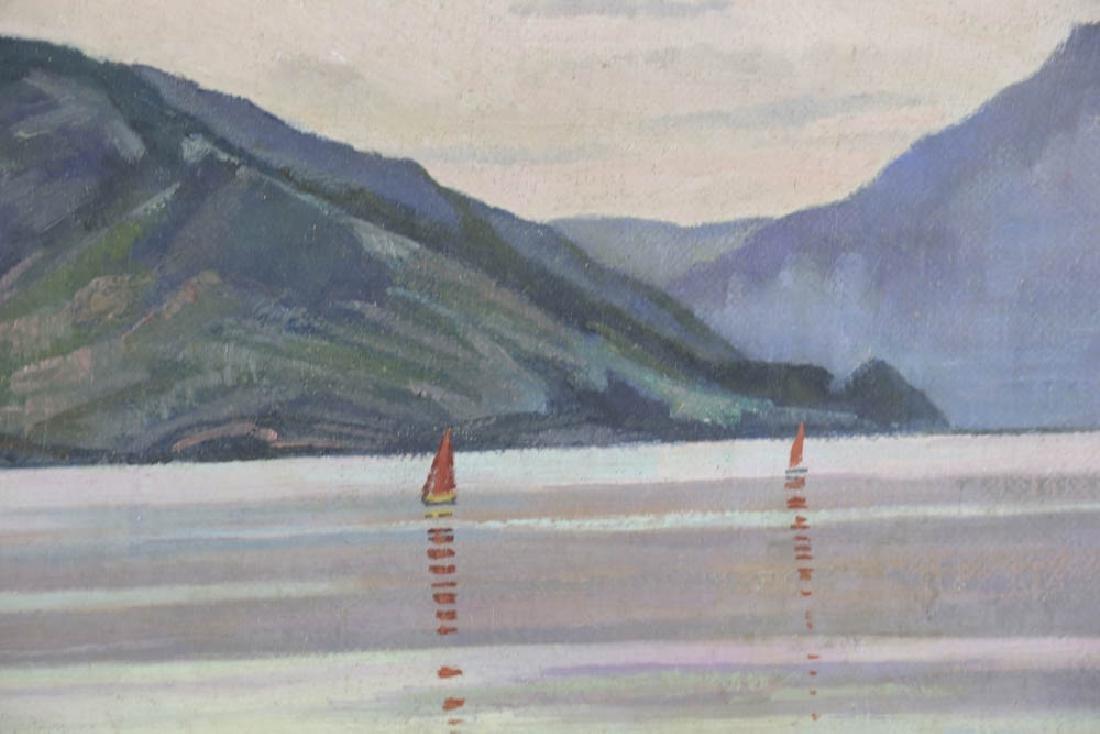 William Inness, Lake Scene, Oil on Panel - 4