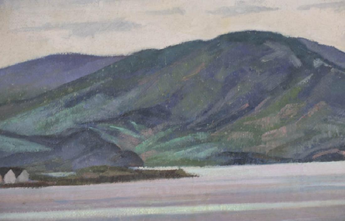 William Inness, Lake Scene, Oil on Panel - 5