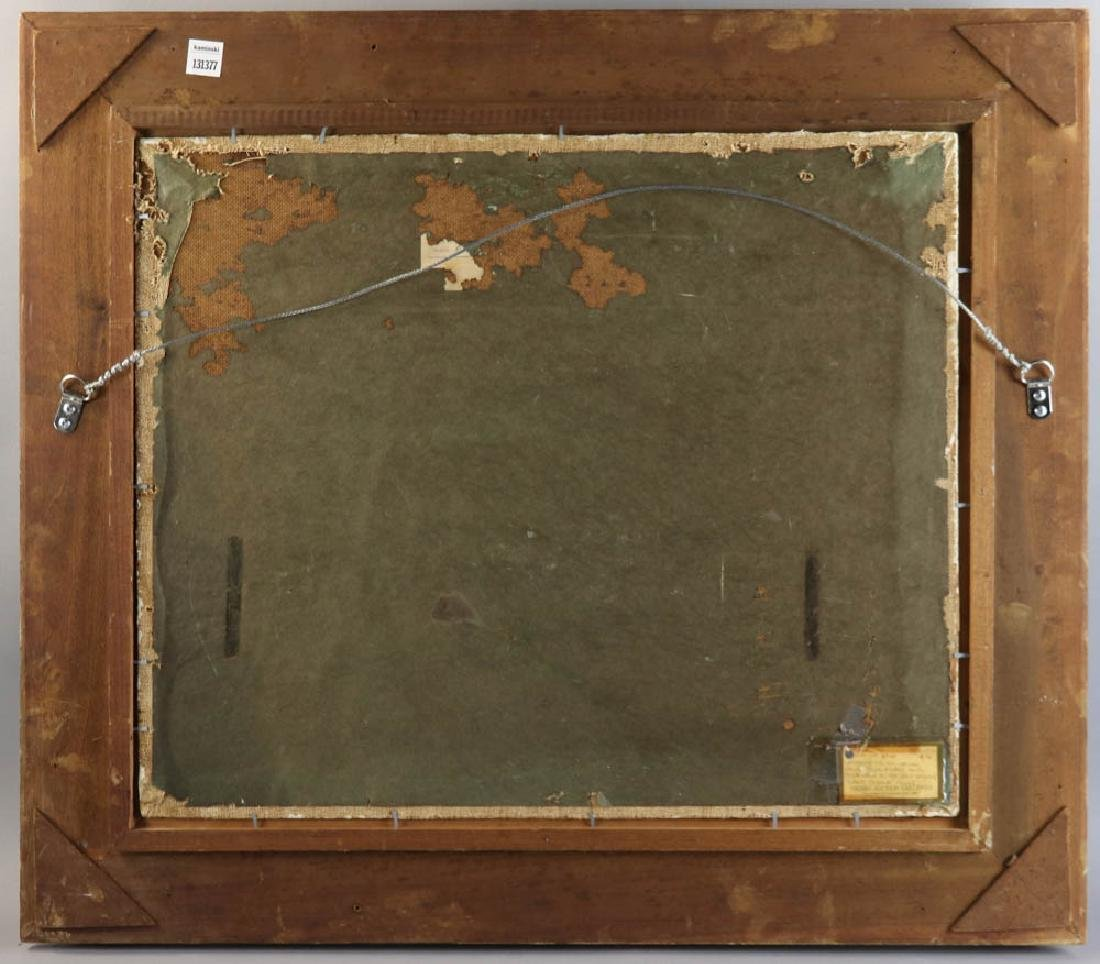 William Inness, Lake Scene, Oil on Panel - 6