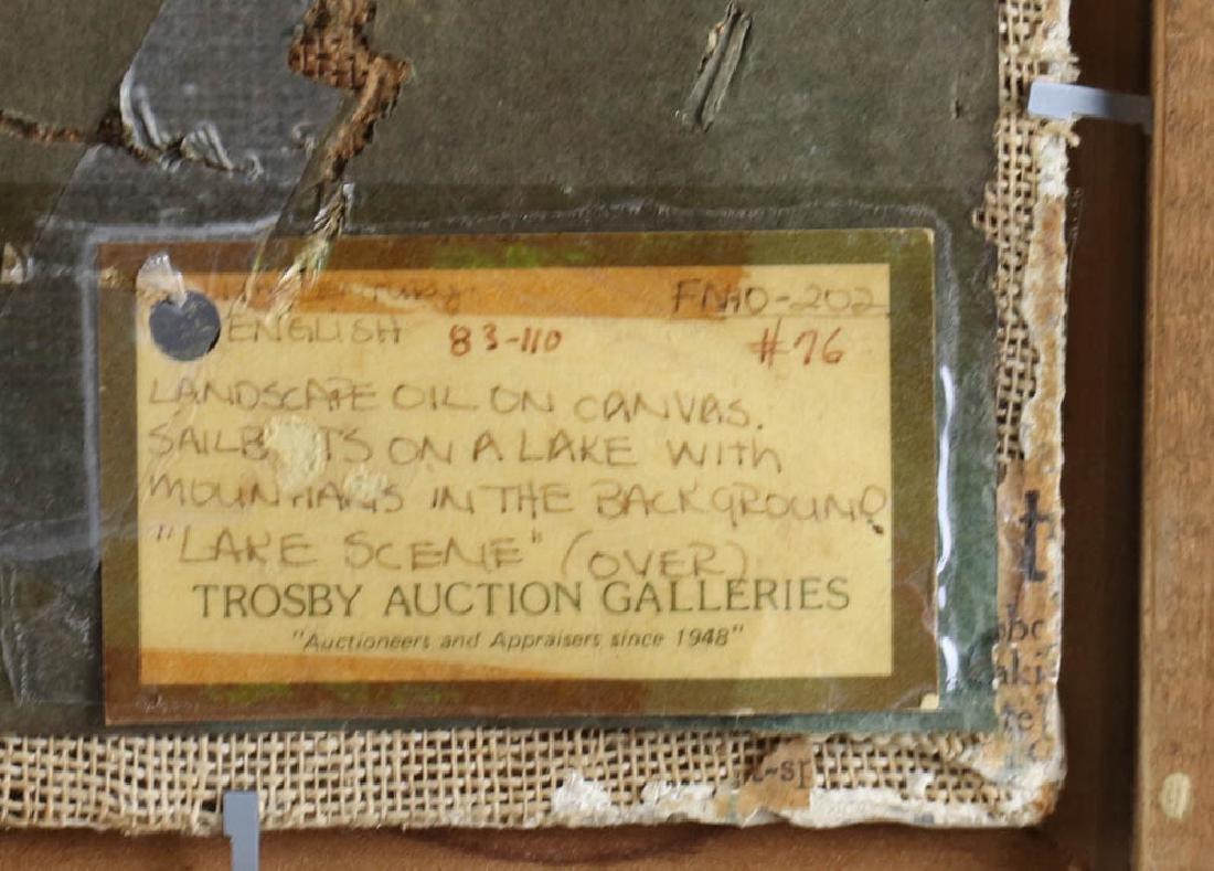 William Inness, Lake Scene, Oil on Panel - 7