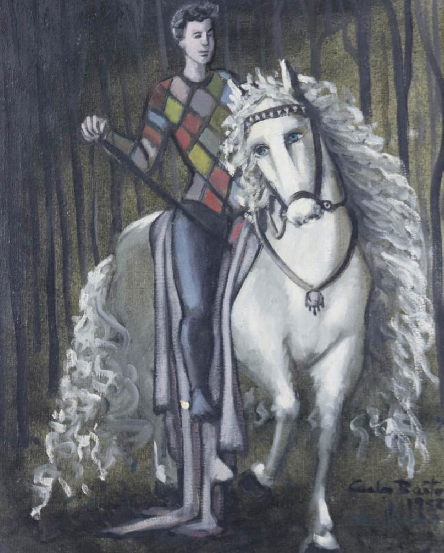 Carlos Bastos Man on a Horse Oil on Canvas - 2