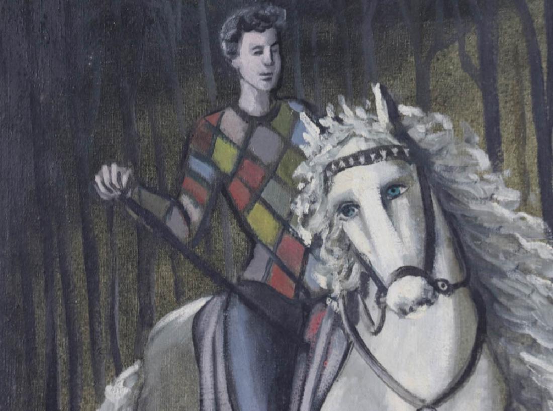 Carlos Bastos Man on a Horse Oil on Canvas - 4