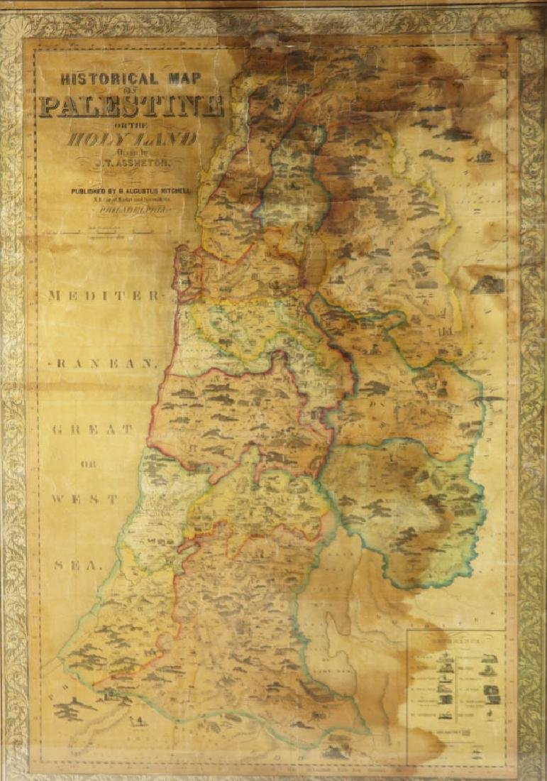 Historical Map of Palestine or The Holy Land - 2