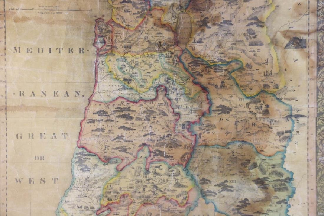 Historical Map of Palestine or The Holy Land - 3