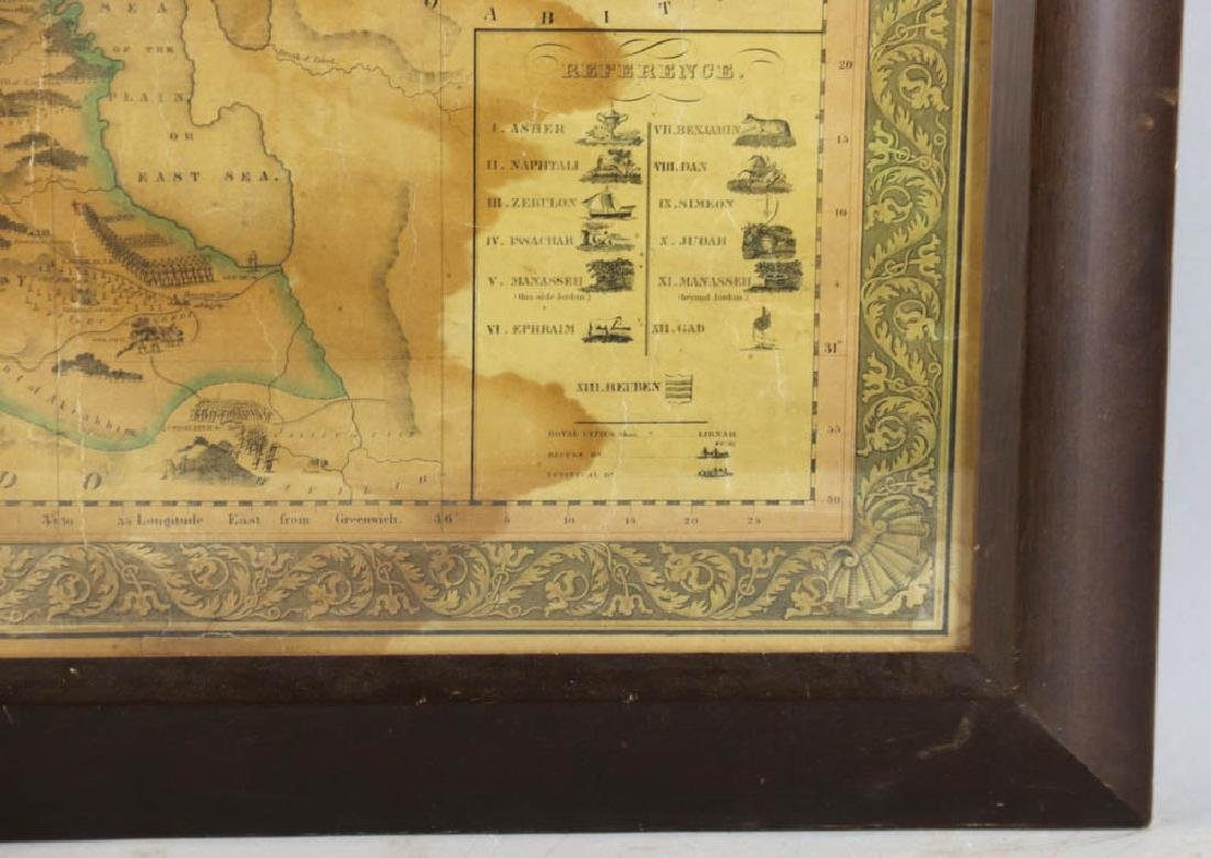 Historical Map of Palestine or The Holy Land - 4