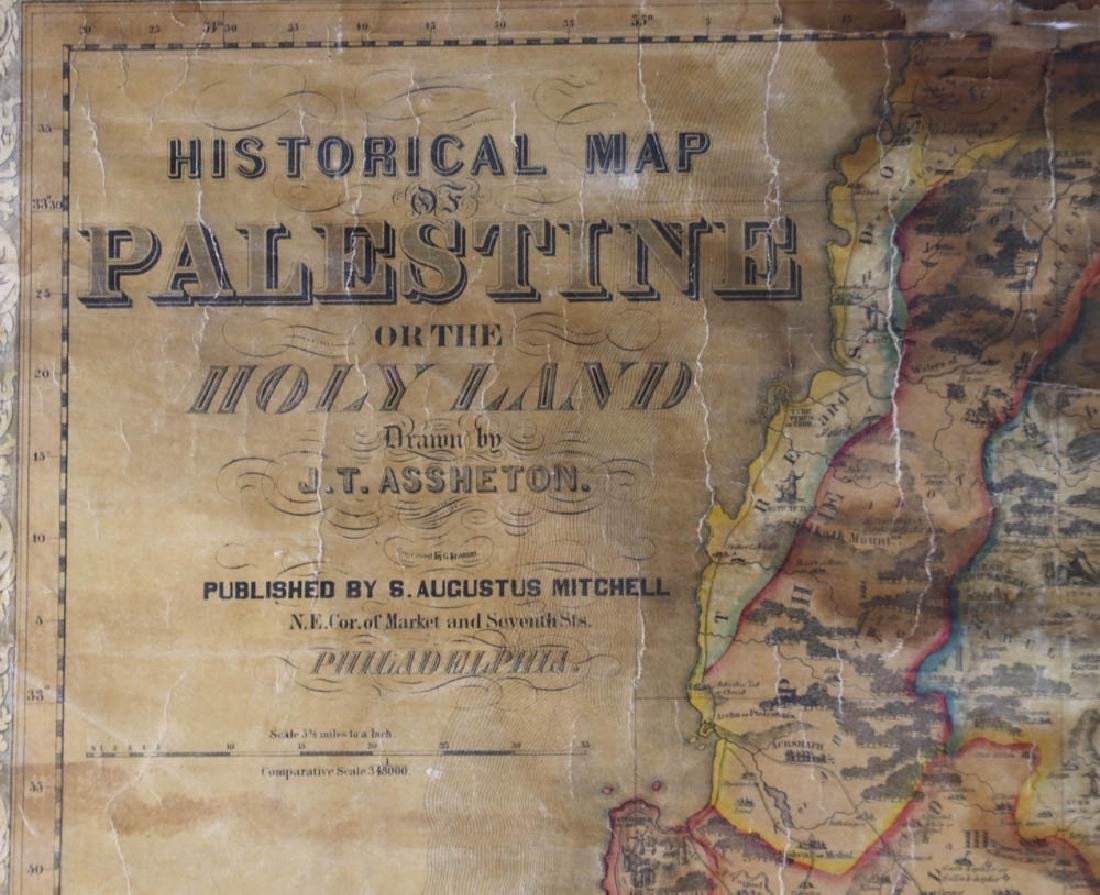 Historical Map of Palestine or The Holy Land - 5