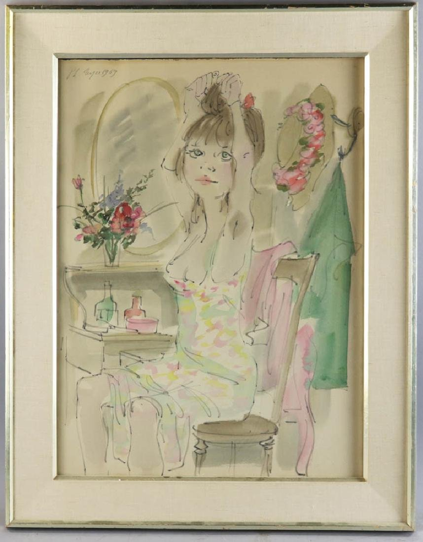 Philippe Noyer Watercolor on Paper