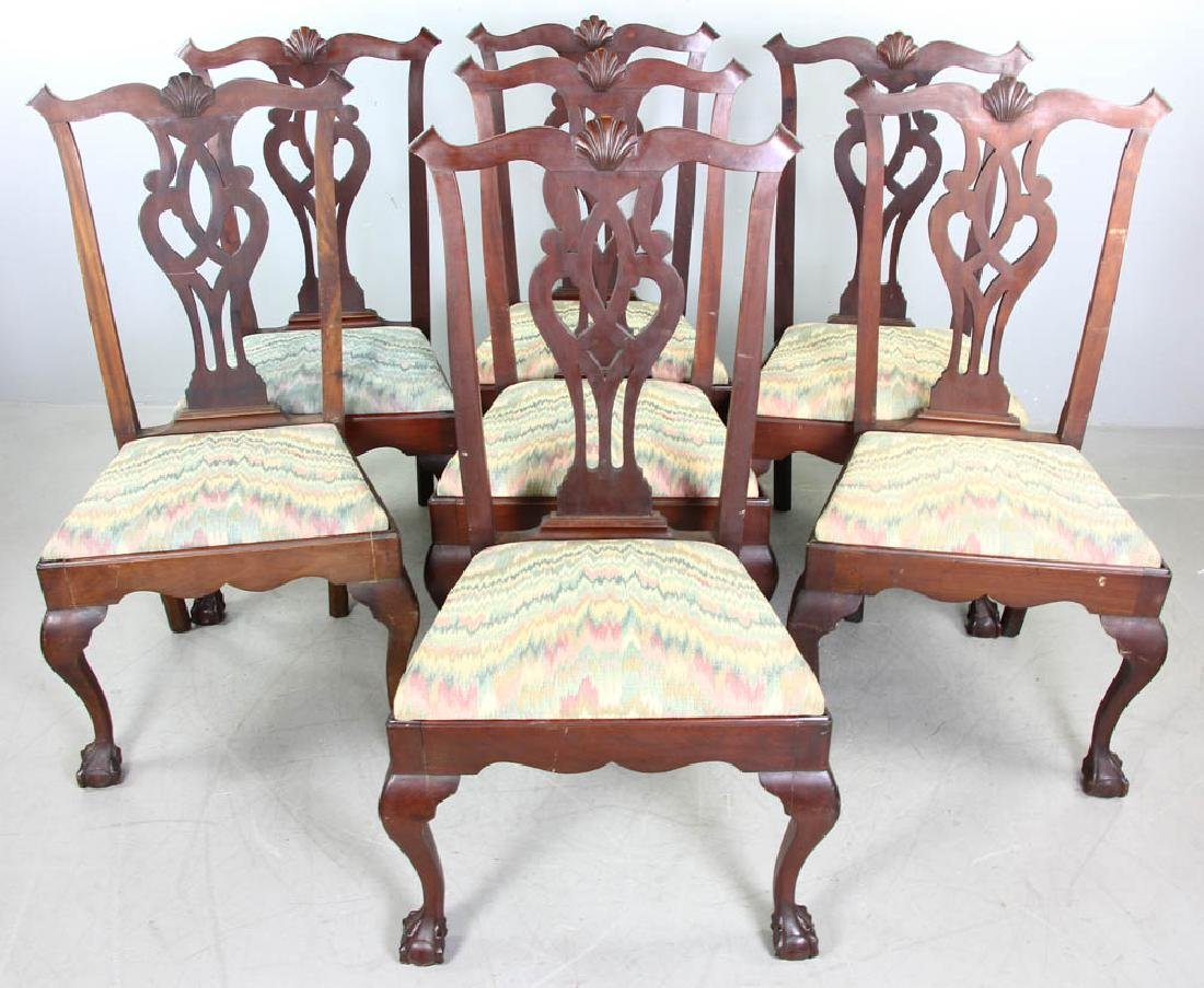 Set of Chippendale Style Mahogany Chairs
