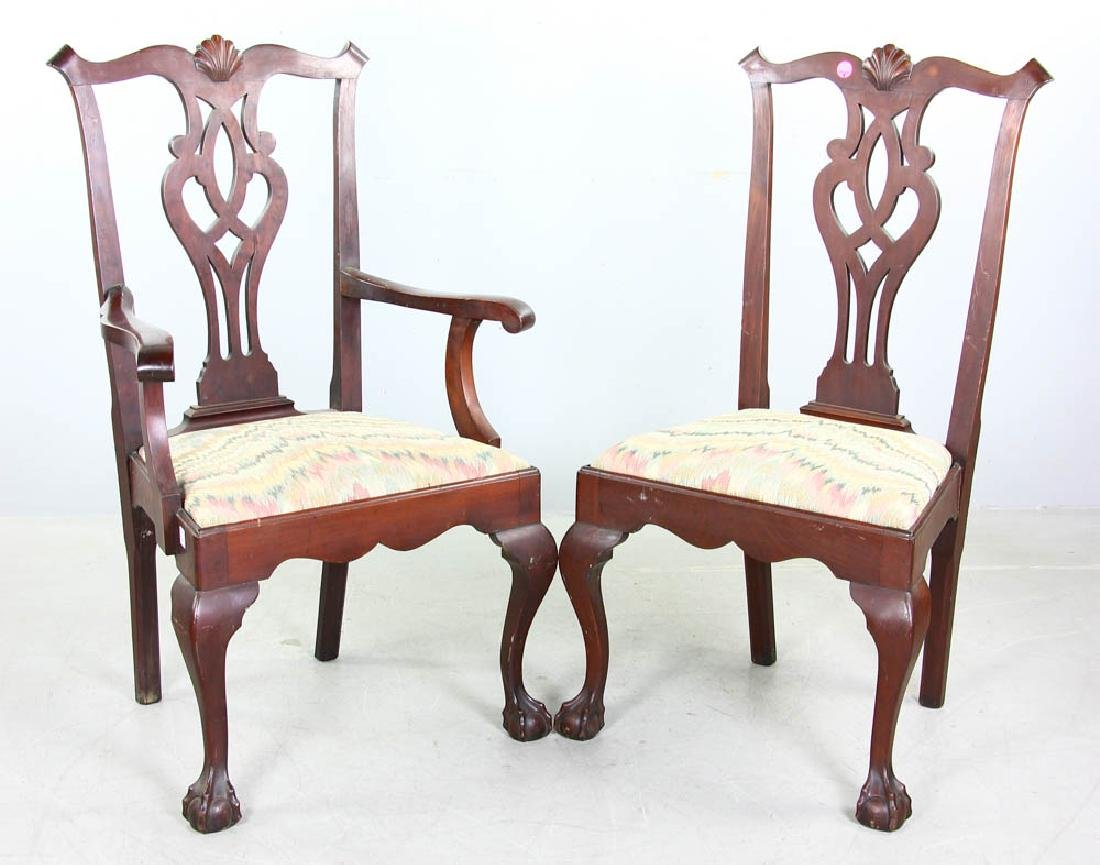 Set of Chippendale Style Mahogany Chairs - 2