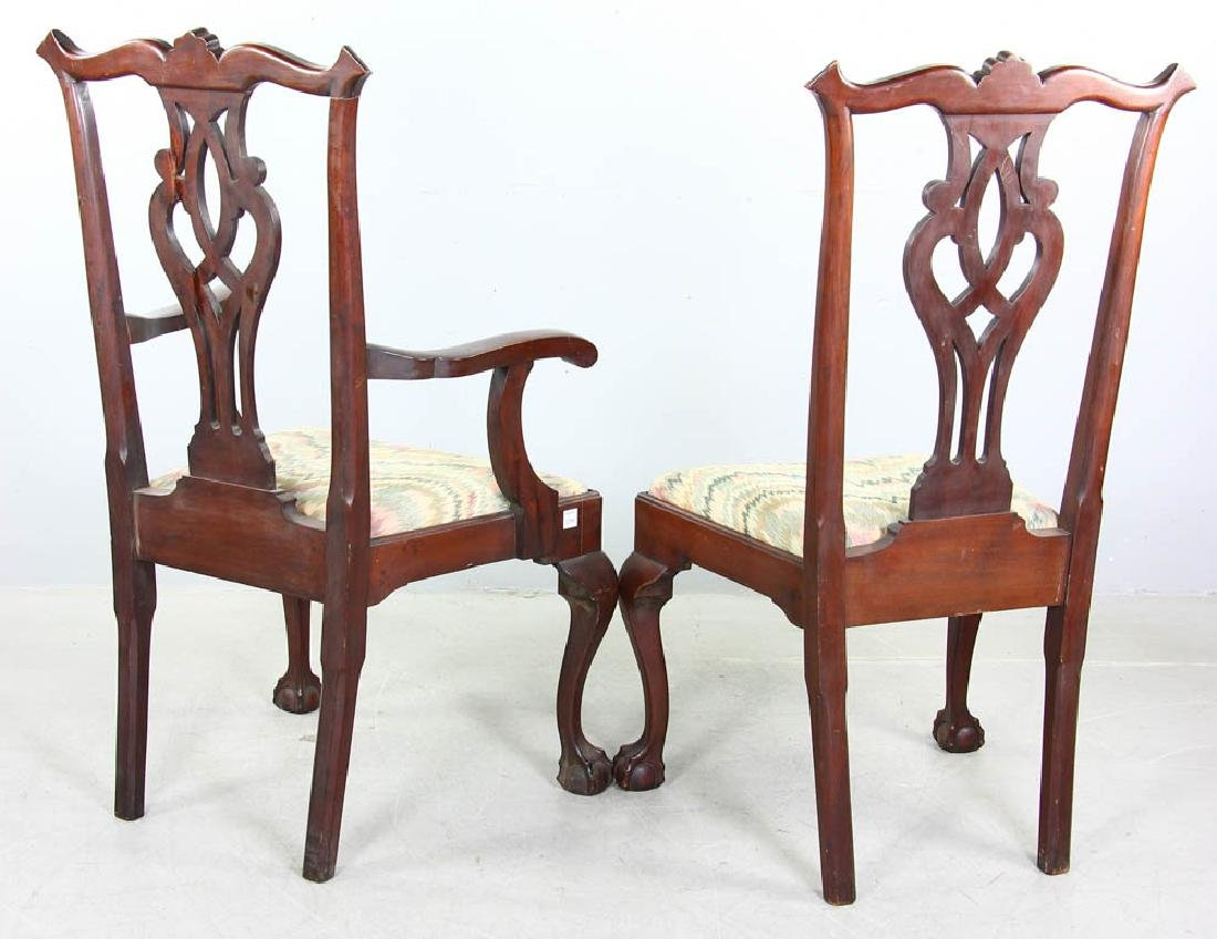 Set of Chippendale Style Mahogany Chairs - 3