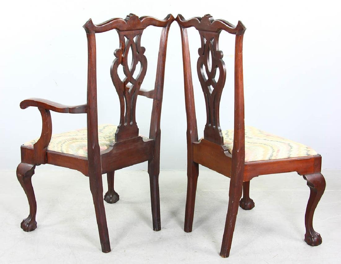 Set of Chippendale Style Mahogany Chairs - 4