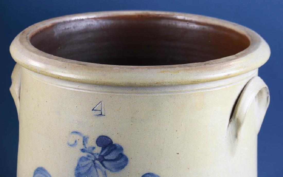 Decorated Pottery Crocks - 3
