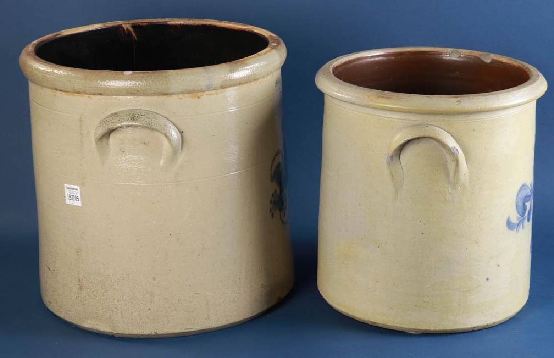 Decorated Pottery Crocks - 4