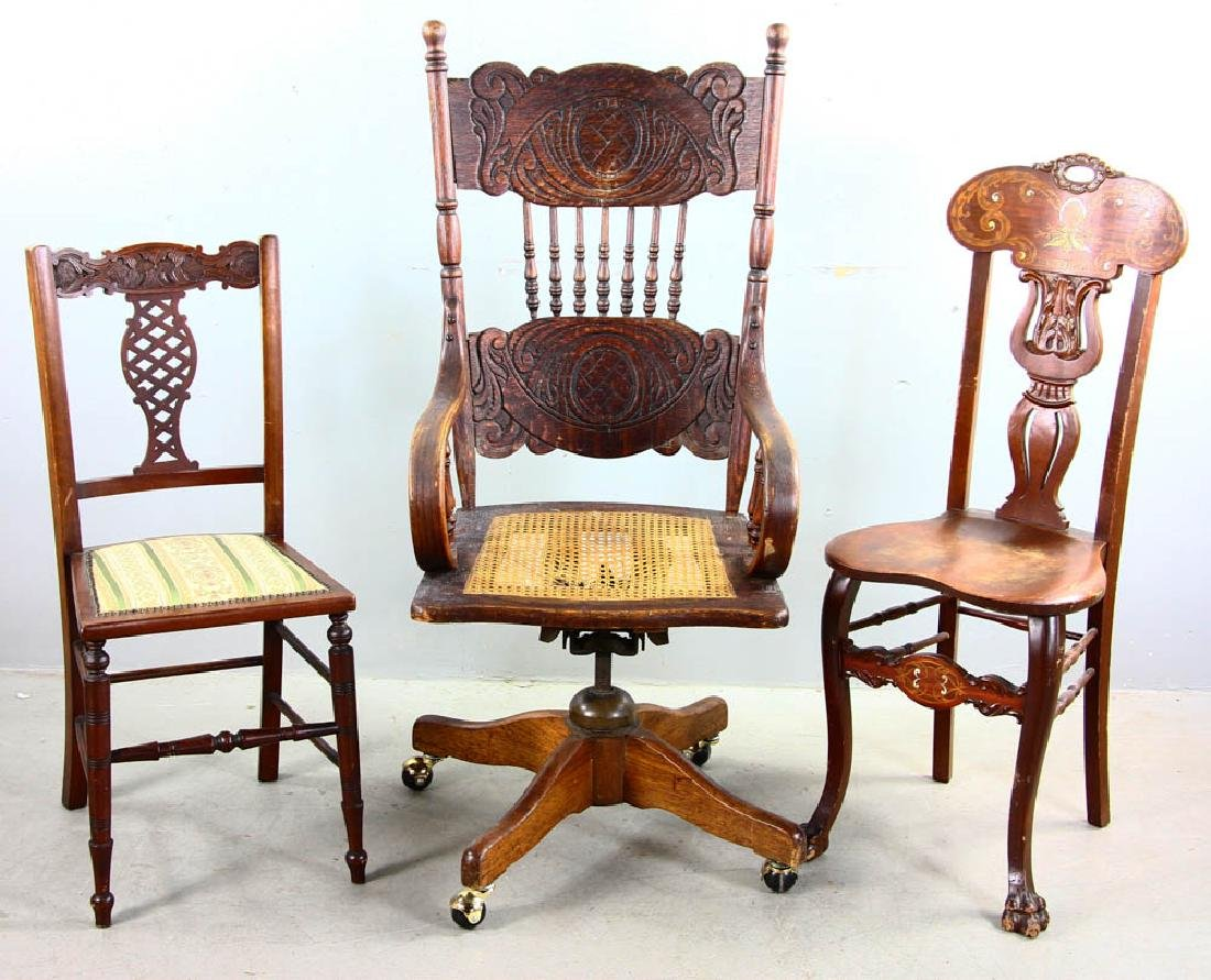 & Group of Three Chairs
