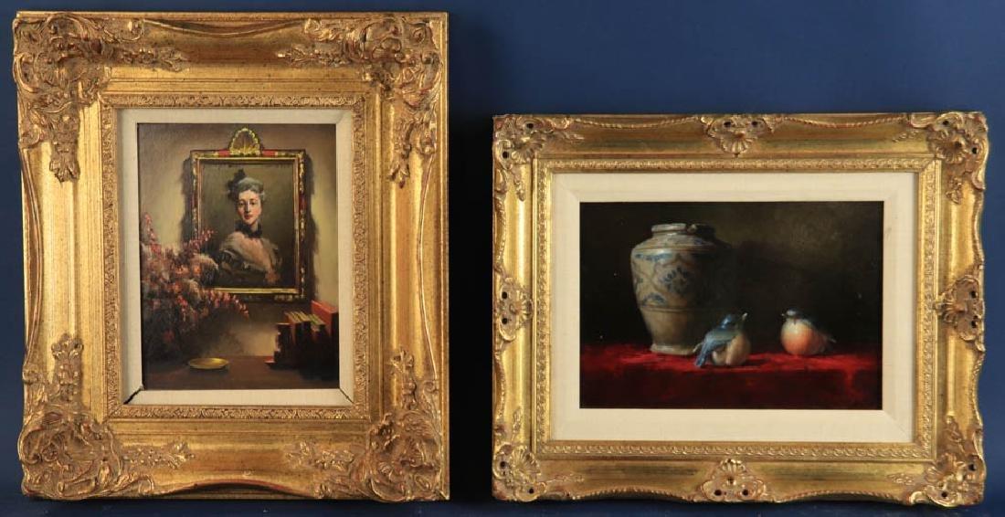 Helen Van Wyk, Two Paintings, Oil on Board