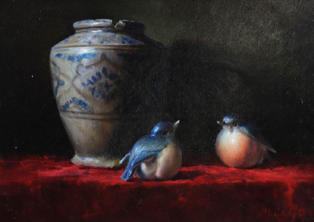 Helen Van Wyk, Two Paintings, Oil on Board - 4