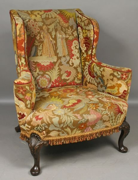 2004: 19thC. Queen Anne Upholstered Wing Chair