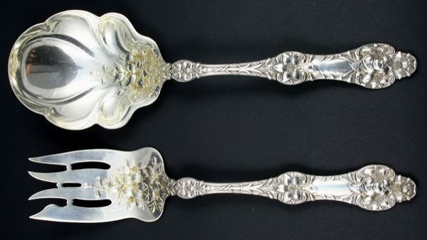 2010: Sterling Silver Spoon & Knife Serving Set