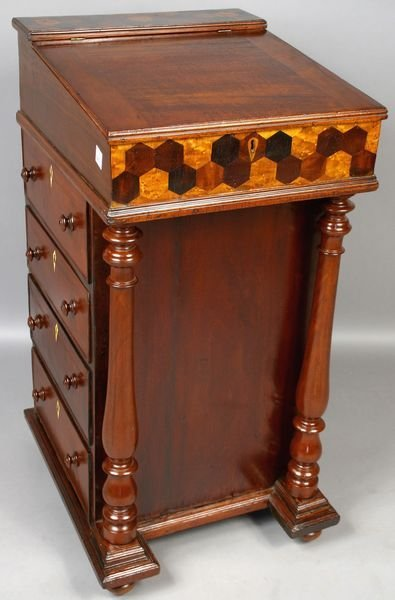 2015: 19th C. Sea Captain's Mahogany Davenport Desk