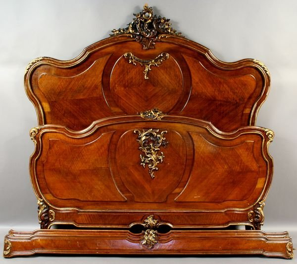 2022: 19th C. Louis XVI Walnut Carved Full Size Bed